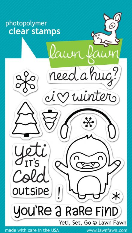 LF0567 M ~ YETI, SET, GO ~ CLEAR STAMPS BY LAWN FAWN